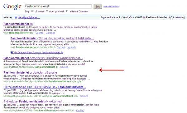 Fashionministeriet google