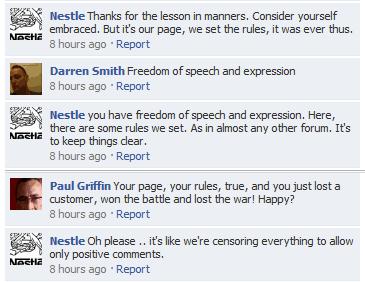 Nestle Facebook social crisis