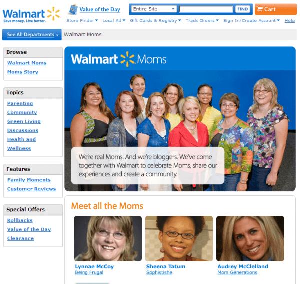 Walmart - Get customer feedback through virtual panels