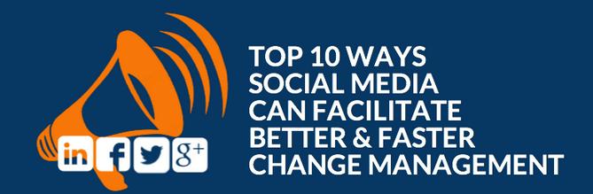 social media can facilitate change management