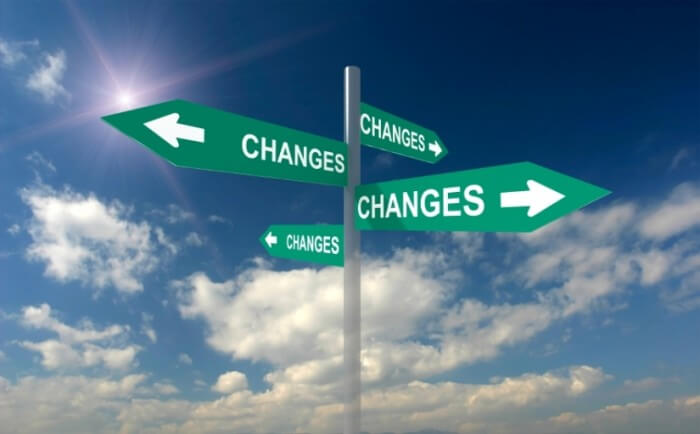 Change management - Road sign