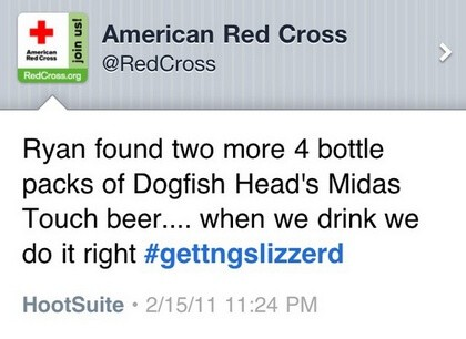 American Red Cross - Corporate Twitter Failure - Wrong pipe
