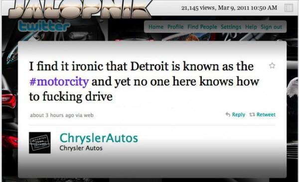 Chrysler - Corporate Twitter Failure