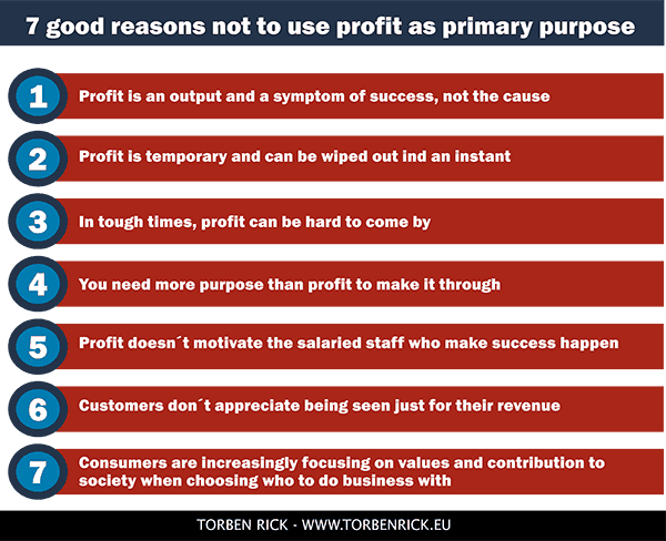 Top 7 reasons not to use profit as primary business purpose