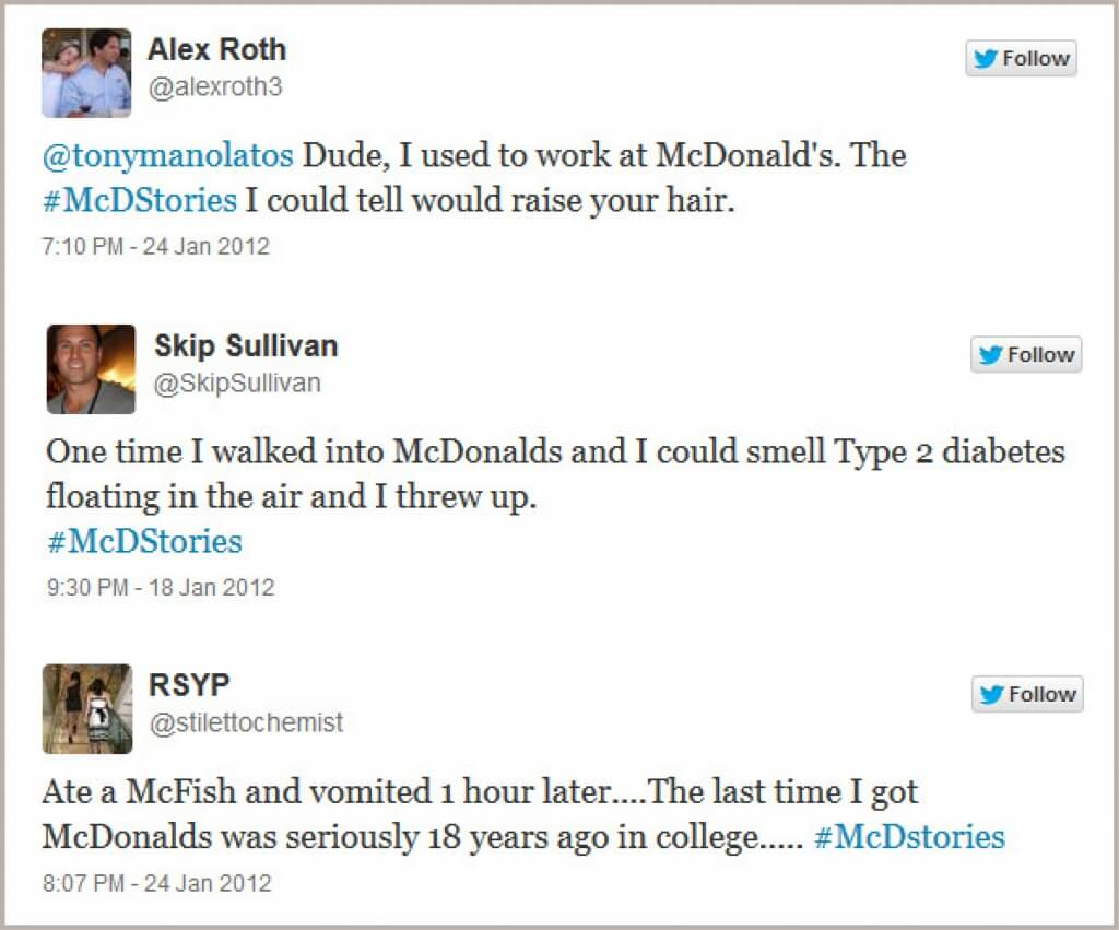 McDStories hashtag - Hashtag campaign backfires