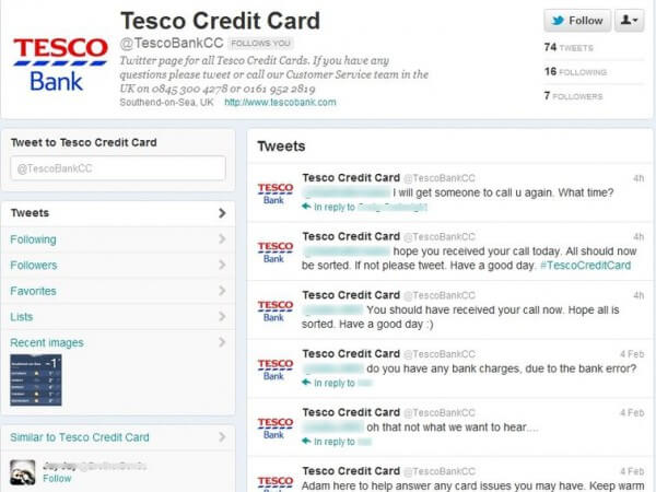 Tesco Bank - Fake Twitter