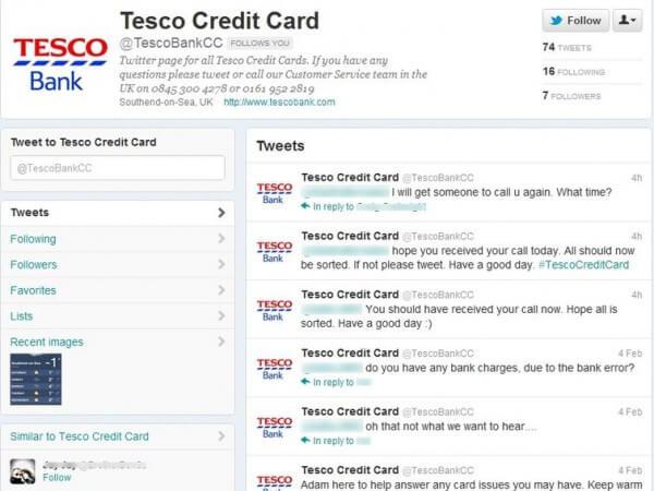 Tesco Bank - Fake Twitter