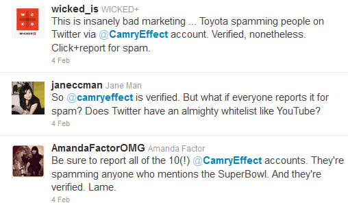 Camry Twitter - Just another social media failure