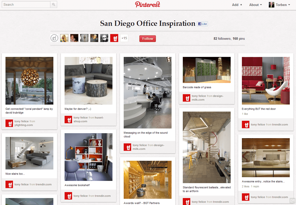 Using Pinterest to engage with employees