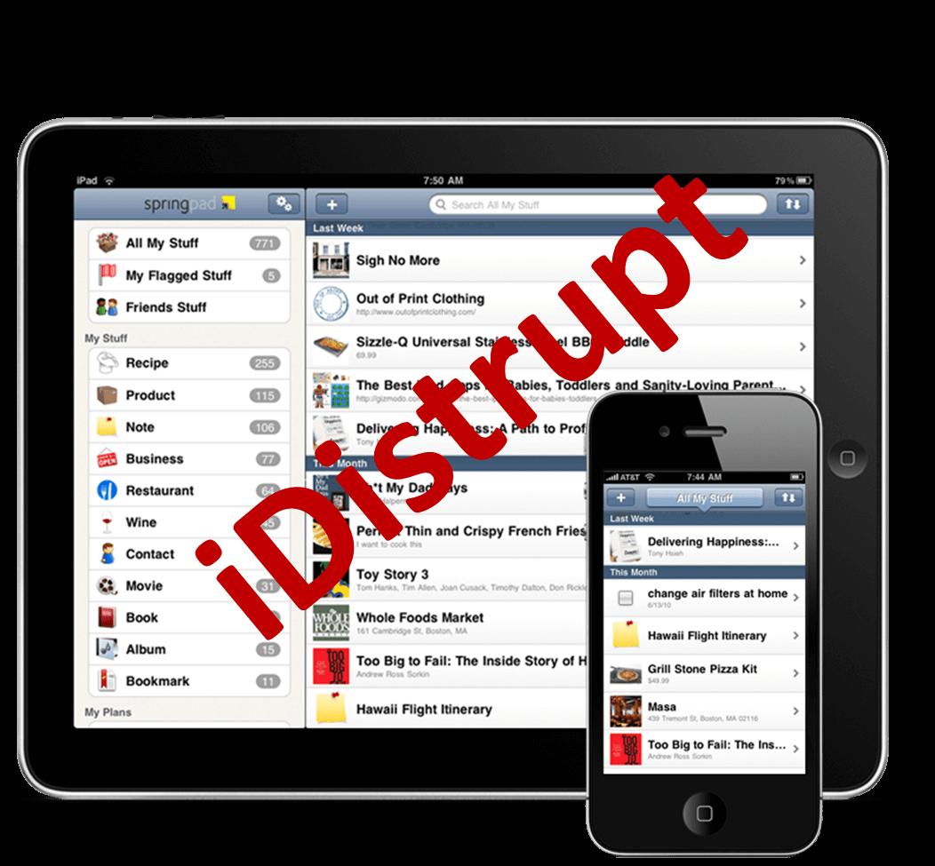 iDistrupt iPad iPhone distrupting