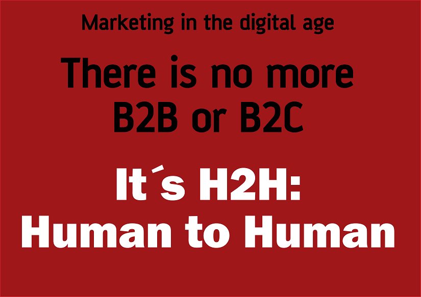 Marketing in the digital age - Human to Human H2H