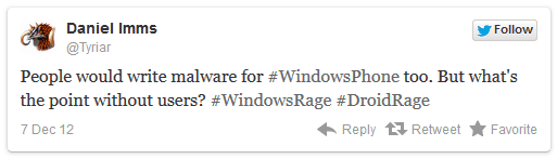 Social media failures from 2012 - Windows Tweet Windowsrage