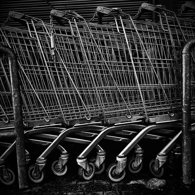 disruptive change - shopping cart