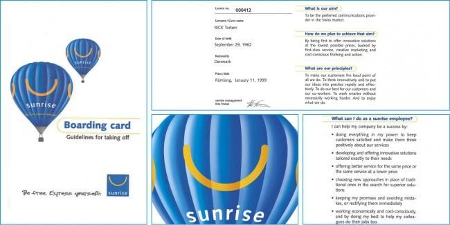 Sunrise Boarding Card - Build organisational alignment