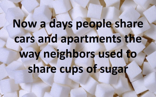 Sugar - The Sharing Economy