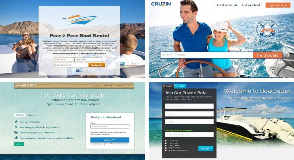 Peer-to-peer boat sharing companies