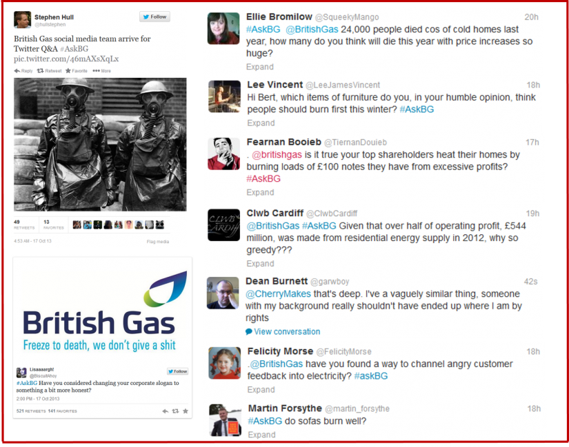 British Gas AskBG Twitter Attack