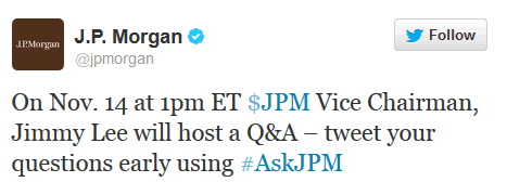 AskJPM - Tweet your questions