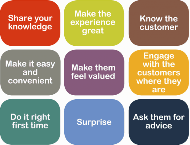 Companies need to build relationships and go above and beyond for their customers