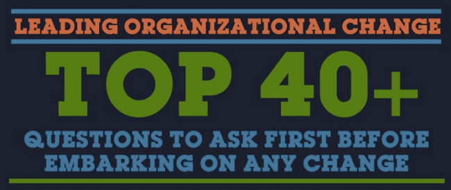 Top 40 organizational change questions
