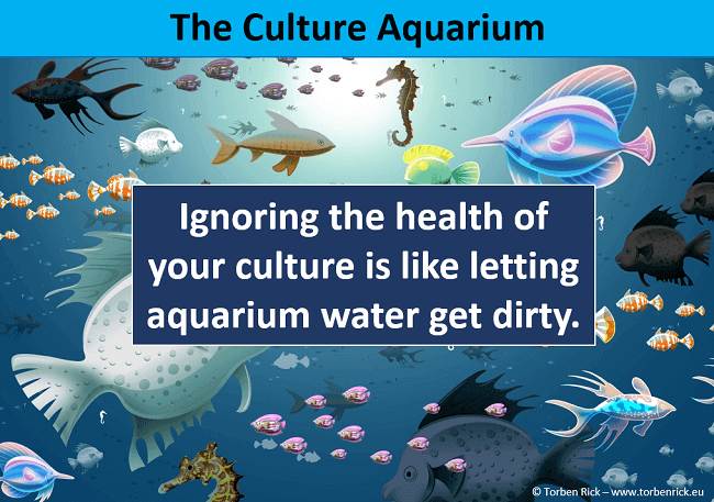 The organizational culture aquarium - Ignoring the health of a companies culture is like letting aquarium water get dirty.