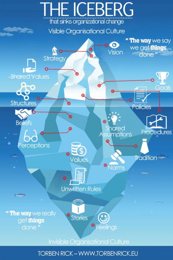 Organisational Culture - Iceberg symptom