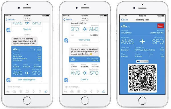 KLM on Facebook Messenger - Apps is killing email once and for all