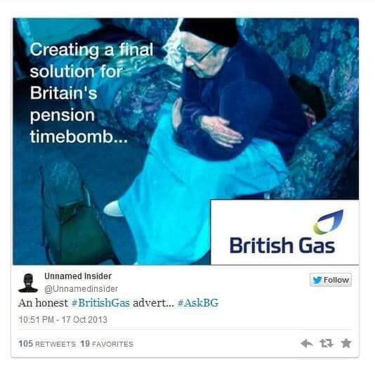 British Gas - AskBG - Q&A disaster on Twitter