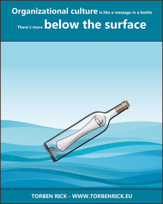 Organizational culture - Below the waterline - Message in a bottle