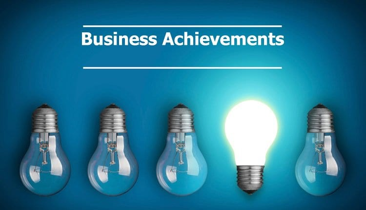 Business achievements