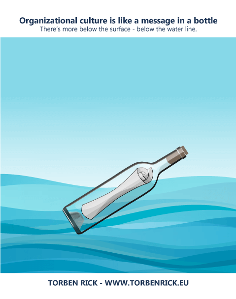 Organizational culture is like a message in a bottle
